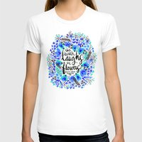 waldo T-shirts featuring The Earth Laughs in Flowers – Turquoise & Blue by Cat Coquillette