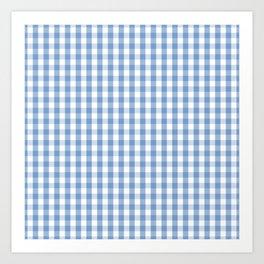 Classic Pale Blue Pastel Gingham Check Art Print