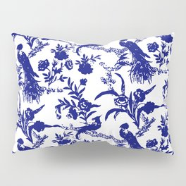 Royal french navy peacock Pillow Sham