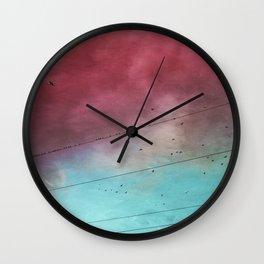 under a cotton candy cloud Wall Clock