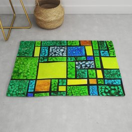 Abstract, qubism, square, Resurrection, Easter Sunday, tomb, Jesus, Christ Rug