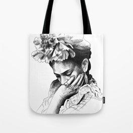 Frida Kahlo - pencil portrait Tote Bag