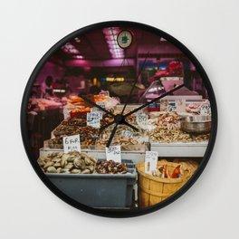Chinatown Shellfish Wall Clock