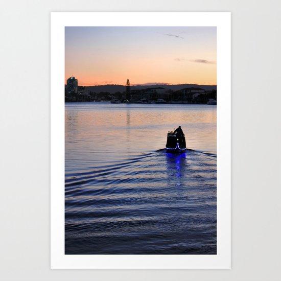 Boat man Art Print
