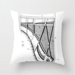 Steinway Piano Patent - Piano Player Art - Black And White Throw Pillow