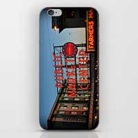 seattle iPhone & iPod Skins featuring Seattle by FortuneArt&Photography
