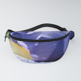 Blue Lavender Iris Close Up Fanny Pack
