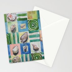 Shell and stripes Stationery Cards