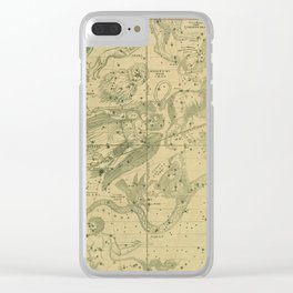 Antique Celestial Map June May April Clear iPhone Case
