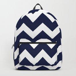 Navy Blue Chevron Minimal Backpack