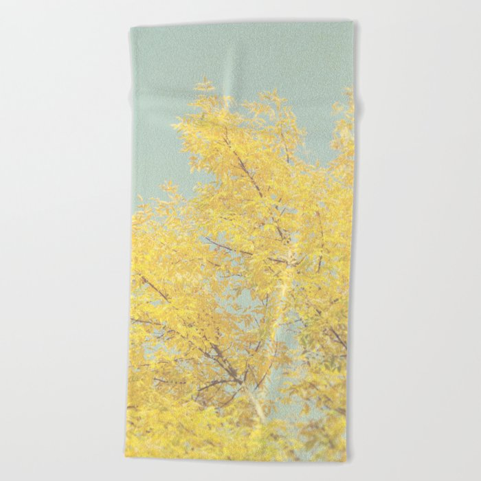 Autumn Tree Beach Towel