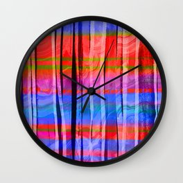 colorful pattern Wall Clock