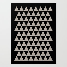 geometry black  Art Print