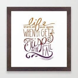 Great Gatsby Quote, F. Scott Fitzgerald Framed Art Print