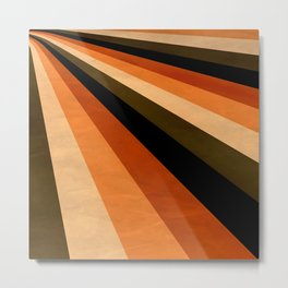 Autumn Stripes Metal Print