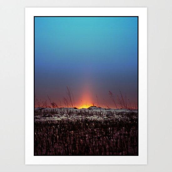 Winter Sun Rising Art Print