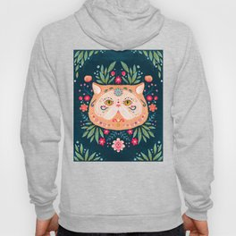 Candied Sugar Skull Kitty Hoody