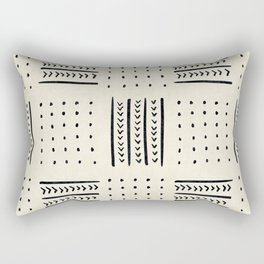 Mud Cloth in Cream Rectangular Pillow
