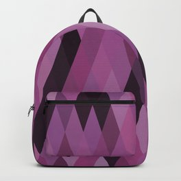Muted Berry Color Harlequin Pattern Backpack