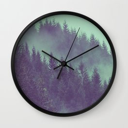 Adventure Awaits Forest Wall Clock