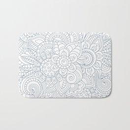 Background Zentangle (doodle) flowers Bath Mat