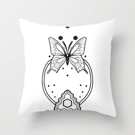 Butterfly Mayan Magic Throw Pillow