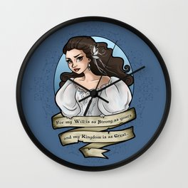 My Will is as Strong as Yours Wall Clock