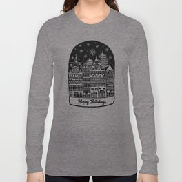 Linocut Holidays Long Sleeve T-shirt