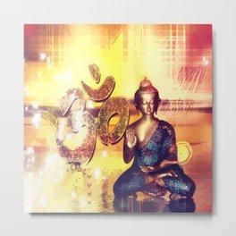 Buddha und Om Zeichen - Vektor Metal Print