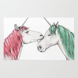 Unicorns in love III Rug