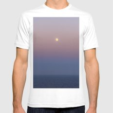 High sea full Moon MEDIUM Mens Fitted Tee White