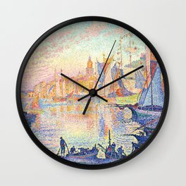 The Port of Saint-Tropez, Paul Signac, 1901 Wall Clock
