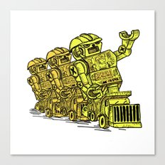 Robot Riding Canvas Print