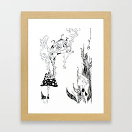 Alice meets Caterpillar Framed Art Print
