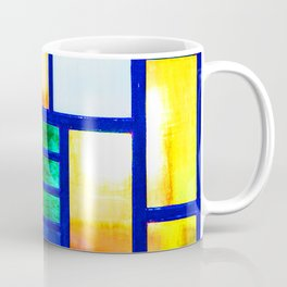 Art Deco Colorful Stained Glass Coffee Mug