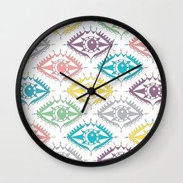 """I see you"" 80s eye pattern Wall Clock"