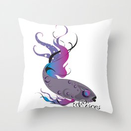 Starlight Pisces Throw Pillow