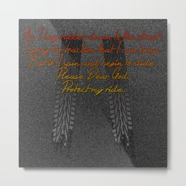 Racers Prayer Metal Print