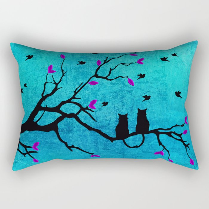 Lovecats - Together forever Rectangular Pillow