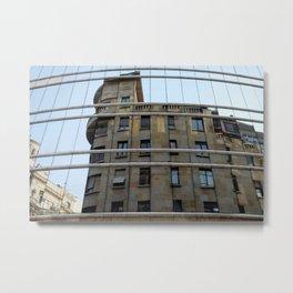 Belgrade / Reflections of Buildings on Buildings Metal Print