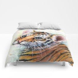 Nursery-Artwork-Tiger-Cub-Baby-Animal-Watercolor-Jungle-Safari-Animals Comforters
