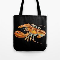 maine Tote Bags featuring Maine Lobster by Tim Jeffs Art