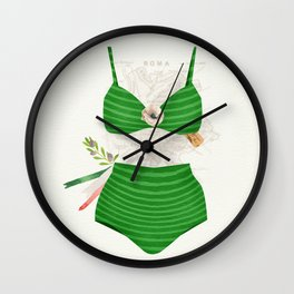 The Bikini Series: Tricolore Wall Clock