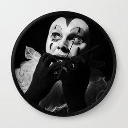 'La Pierrot (fear)' (c)Joel Stephen Birnie 2015 Wall Clock