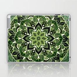 Neon green mandala Laptop & iPad Skin