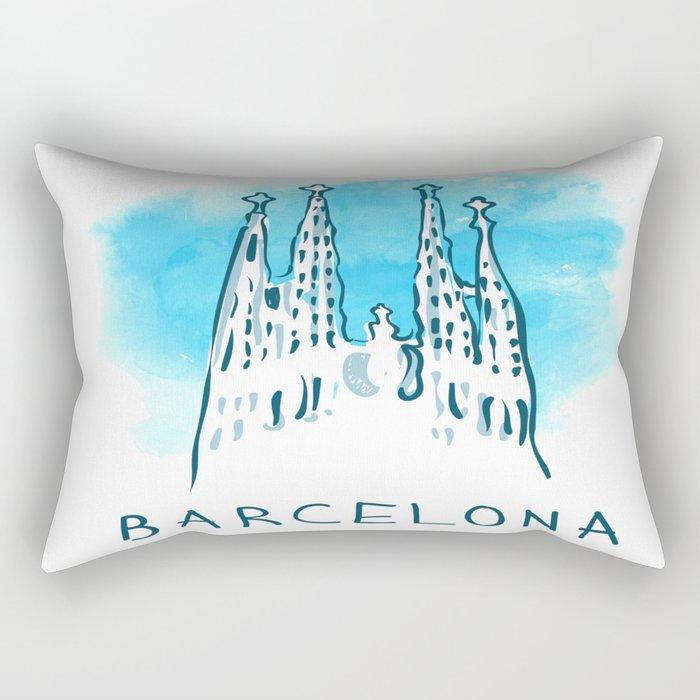 Barcelona 02 Rectangular Pillow