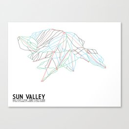 Sun Valley, ID - Minimalist Trail Map Canvas Print