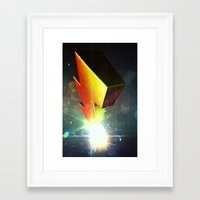power rangers Framed Art Prints featuring Mighty Morphin Power Rangers by transitoryspace