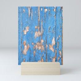 Flaky Blue 61 Mini Art Print