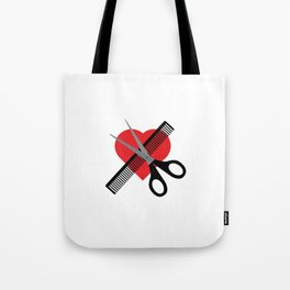 scissors & comb & heart Tote Bag